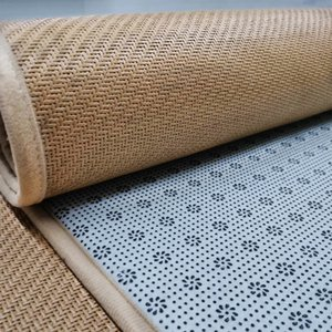 Summer cool Adhesive paper carpet floor rattan carpet anti-slip children's climbing tatami floor mat sleeping mat stickers