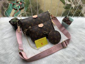 Shoulder Handbag Tote 3pcs delle donne Satchel Handbag Top-maniglia Crossbody frizione della borsa della borsa con la scatola originale