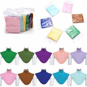 Islâmica Mulheres Hijab extensões Neck check tampa traseira islâmica shirt Under Top Hijab Femme Musulman Scarf uk7q #