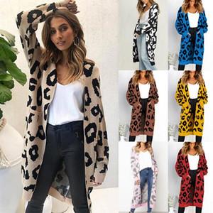 Femmes Automne hiver chaud Mode loose pulls tricotés Casual longues Cardigan veste à manches longues Manteau Outwear Plus Size Pocket