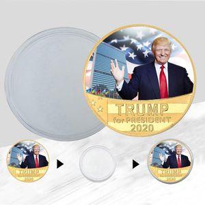 Sammlung Goldmünzen Crafts Trump Speech Gedenkmünze Amerika Präsident Trump Keep America Große Münzen DHC492