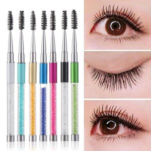 Rhinestone Lash Brush Reusable Eyelash Brushes Mascara Wand Applicator Eyes Comb Extension Grafting Makeup Tool
