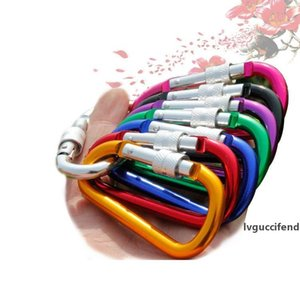 2000pcs D-ring Aluminum Alloy Screwgate Carabiner Rope Hook Quick-Hang Backpack Buckle Multi-color