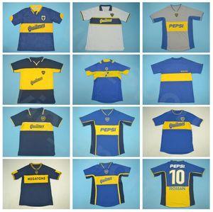 1981 1996 1999 2001 2005 Vendemmia Boca Juniors retro romano maglia da calcio PALERMO PALACIO RIQUELME GIMENEZ GUILLERMO Football Shirt Kit