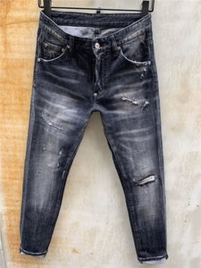 SS20 New Arrival Top Quality Designer Men D2 DeEmbronim Cool Guy Jeans idery Pants Fashion Holes Trousers Italy Size 44-54 986