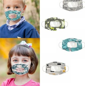 crianças Máscara Limpar janela visível expressão face Capa Para Deaf Mute Pessoas crianças Lip cara leitura Máscaras LJJK2391