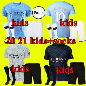 New manchester 20 21 STERLING DE BRUYNE KUN AGUERO man soccer jersey city 2020 2021 SANE JESUS football shirt kids kit youth uniform