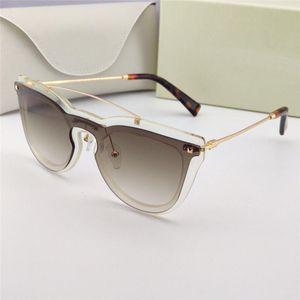 Neue Mode-Design-Sonnenbrille 4008 Frauen populäre Schmetterlingsform rahmenlos Gläser hochwertige populäre Art uv400 Brille
