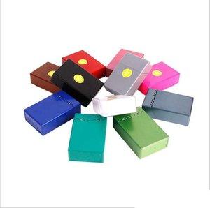 Automatic press cover, plastic hard cigarette case, thickening, portable, moisture proof, compression, male cigarette case