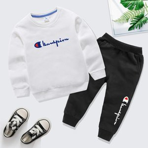 2020 Baby Boys And Girls Suit Brand Tracksuits Kids Clothing Set Hot Sell Fashion Spring Autumn Childrens Dresses Long Sleeve Sweater bnd6ds
