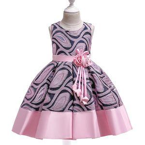 Cheap Girls Dress 2020 New A-line Kids Dresses for Girl Sleeveless Flower Children Princess Dress Casual Toddlers Teens Costume
