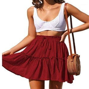 and Pure Color Clothing A Line Fit Apparel Womens Summer Dresses Fashion Cute Short Skirts Polka Dot