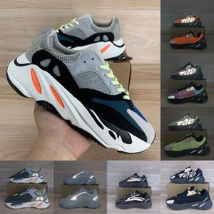 Clássico do corredor da onda cinzenta contínua 700 Kanye West tênis Black Orange Triplo Phosphor óssea Sneakers carbono azuis Teal mens as sapatas das mulheres