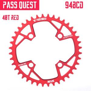 PASS QUEST 94BCD col quête 40t 38t positives et négatives dents seul disque nx gx x1 1400 7075 disque 40T 38T