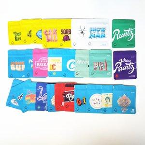 GALLETAS California SF octavo 3.5g Mylar a prueba de niños bolsas de embalaje 420 gelatti Cereal Gary Payton galletas bolsa con la etiqueta engomada del holograma