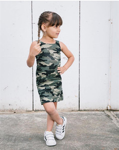 2020 Toddler Kids Baby Girls Camo Backless Dress Clothes Little Gilr Party Casual Dresses Sundress Clothing Outfit T200709
