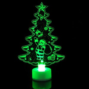 1pc Colorful LED Decorative Lights New Year's Products Christmas Tree Decorations Party Supplies Acrylic Christmas Night Gift