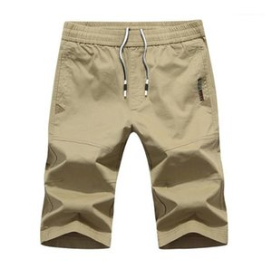 Color Drawstring Elastic Waist Loose Shorts Teenager Sports Capris Shorts Summer Mens Beach Shorts Casual Solid