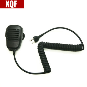 XQF Матовых оболочки PTT Ручного плеча Динамик микрофон для МИДЛЕНДА G6 / G7 / G8 / G9 GXT550 GXT650 LXT80 Радио Walkie Talkie
