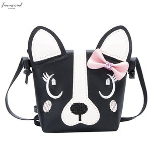 Children Shoulder Bag Mini Dog Ear Bags Simple Small Square Bag Kids Pu Leather Crossbody Purse Cute Princess Handbags