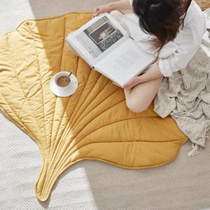 Nordic Folha tapete macio do algodão Floor Mat Tapetes bebê Crianças Quarto Blanket Nursery Decor tapete vivo Decoração Início de Ano Novo