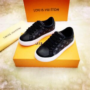 Moda Kid Luxury Shoes Boy Esporte Tênis Meninas Sneakers adolescente Marca clássica Branca Running Shoes Antiderrapante Chaussure Enfant Student Calçados