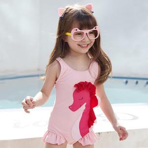Bambini ragazza coreana stile un pezzo principessa bambino sveglio ragazza breifs pantaloni a vita bassa del costume da bagno costume da bagno