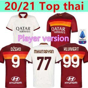 Player versione 20 21 AS Roma Calcio maglie Kolarov 2020 2021 TOTTI maglia da calcio DZEKO Football Shirt CENGIZ in giù Uomo Uniformi Kluivert