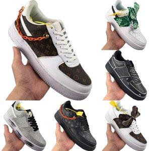 Kutusu ile 2020 AF1 Düşük Kesim Bow Eşarp Kaykay Ayakkabı Originals Sup Birliği AF1 Düşük En Bow Antiskid Kauçuk Dahili Zoom Air Spor Ayakkabıları