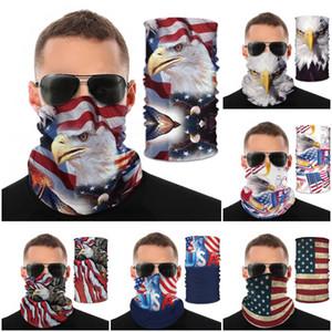 Navio DHL! Outdoor Sports Pássaro Nacional Imprimir Máscara da bandeira dos EUA Magia lenço de protecção Moda Ciclismo Caps Máscaras de equitação