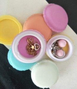 Macaron de almacenamiento caso flick abierto dulces macarrón caja de fijación de soporte de joyería perlas de uñas ornamento bolsa para la tarjeta SD del auricular