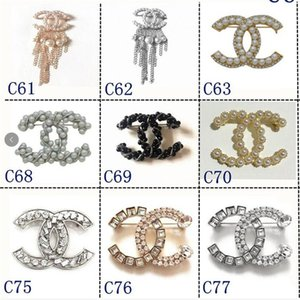 2020 Lüks Tasarımcı Nefis Çift Harf Broş İçin Kadınlar Bildirimi Marka Chanel rooches iğneler Aksesuar Takı Hediye
