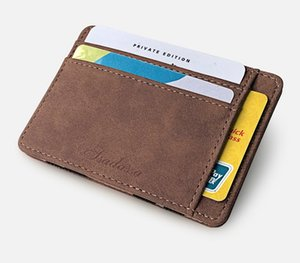 New Matte Leather Men Wallets PU Leather Solid Color Coin Purse Multi-card Position Card Holder Thin Slim Short Male Credit Card