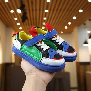 QUfGZ 2020 new fashion children's breathable mesh casual boys and Sports sports Mesh sneakers girls children's white shoes student's shoes s