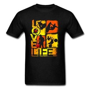 Aşk Yaşamı Tişört Erkekler Extreme Macera Tişörtlü Siyah Tişört Surfer Patenci Moto Biker Tasarımcı Gençlik Kişiselleştirilmiş Giyim Pamuk