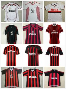 1991 1992 1996 1997 2000 01 2002 2003 2005 2006 2007 09 10 Retro maillot de football AC KAKA MALDINI INZAGHI PIRLO milan VINTAGE chemise de football