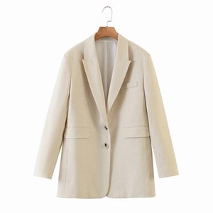 Women Suit Top Autumn 2020 New Fashion Long Sleeve Loose Outerwear Modern Lady Casual Blazer Top