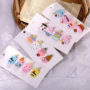 Симпатичный мультфильм Lollipop Ice Lollipop головной убор шпилька мороженое облако шпилька мило сторона девушка клип аксессуары для волос головной убор