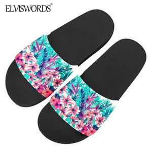 ELVISWORDS Mignon Sandales d'impression floral pour les femmes 2020 Mode Nouveau caoutchouc Slipper Fleurs tropicales Diapo Brand Design Chaussures
