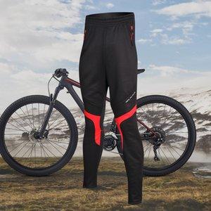 Santic Erkekler Bisiklet Pantolon Kış Windproof Yansıtıcı Pantolon Hızlı Kuru Açık Bisiklet Clothings Termal Mtb Running