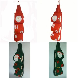 Santa Claus Paper Bags Holders Towel Sets Cloth Covers Christmas Holiday Party Toilet Bathroom Papers Bag Pouch Xmas Home Decor prop FFA3053