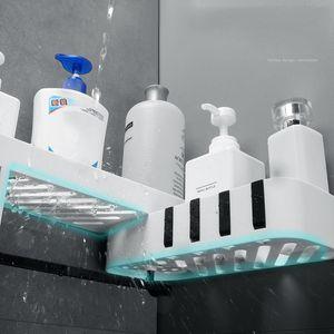 Plastic Suction Cup Bathroom Kitchen Corner Storage Rack Organizer Shower Shelf And Organizing Storage