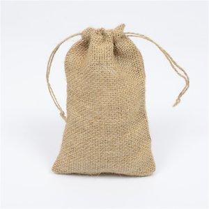 Jute cloth bag Coffee beans coarse grain jute bag Natural jute hemp drawstring bag