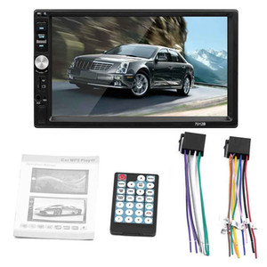 2 Din Car DVD HD Na tela traço de toque MP5 Touch Screen Stereo BluetoothCar Radio Player USB Car MP3 DHL transporte livre