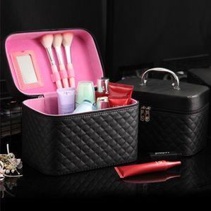 한국어 화장품 케이스, PU 가죽, 다이아몬드, 플립 가방 스타일, 안감 텍스처 폴리 에스테르면
