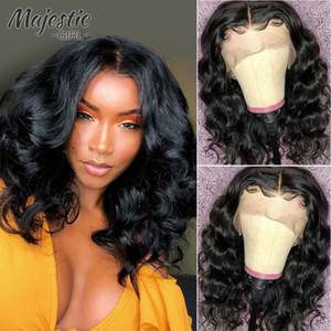 Curly Lace Front Wigs With Baby Hair Brazilian Remy Hair Natural Wave Short Bob Wigs For Black Women Pre-Plucked With Baby Hair