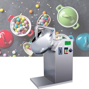 en acier inoxydable de haute qualité automatique Pill noix amandes sucre Popcorn bonbons au chocolat Revêtement Pan machine 220v