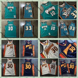 Ness authentique Mitchell Stephen Curry 30Guerriers Jersey 10 Mike Bibby GrizzliesJersey 33 Grant Hill Swingman Basketball Maillots