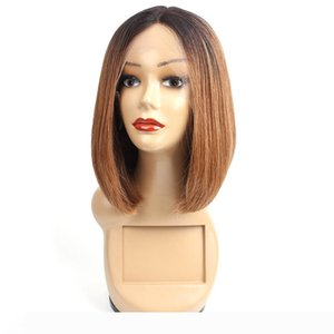 1B 30 Ombre T-type Lace Front Human Hair Wigs Straight Hair 10 inch Short Bob Style Brazilian Remy Hair Wigs For Women