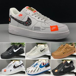 New WHITE x 1 Low Forces MCA University Blue Mens Running Shoes Sports fashion Designers Sneakers air one des chaussures off shoes Q2ESC
